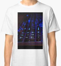 Laptop Blue lights Keyboard Classic T-Shirt