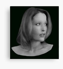 Gillian Anderson - Oil Painting Canvas Print