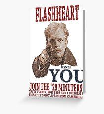 FLASH HEART WANTS YOU (2) Greeting Card