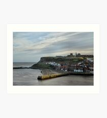 Whitby Harbour Art Print