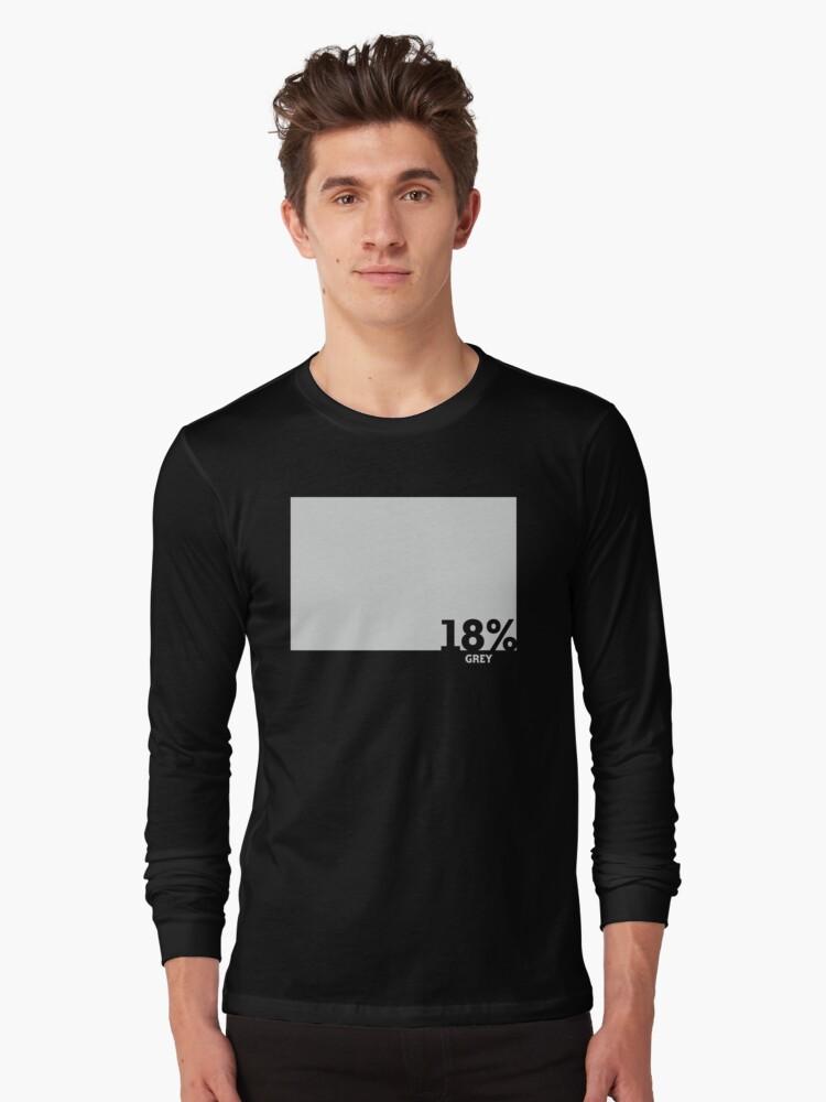 18% Grey Test Tee Long Sleeve T-Shirt Front