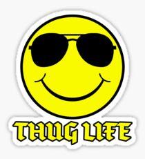 Smiley Face Thug Life Digital Art Sticker