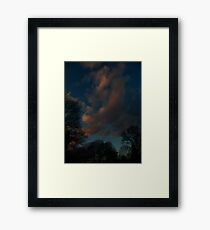 January Sunset (1657) Framed Print