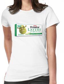Shrek-Gum Trident Layers Womens Fitted T-Shirt