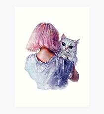 Lámina artística Cuddles rosa