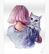 Pink Cuddles Poster
