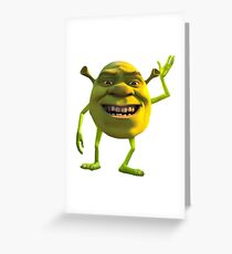 Shrek Wazowski Greeting Card