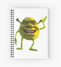 Shrek Wazowski Spiral Notebook