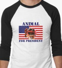 Animal for President Men's Baseball ¾ T-Shirt
