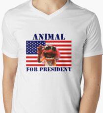 Animal for President Men's V-Neck T-Shirt