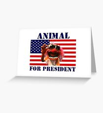 Animal for President Greeting Card