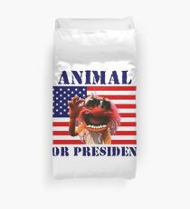 Animal for President Duvet Cover
