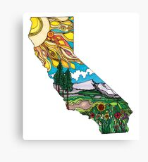 California is Love Canvas Print