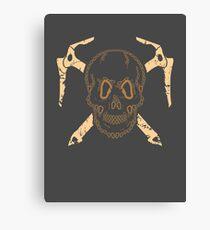 Skull and Cross Axes Canvas Print