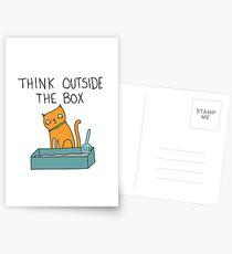 Kreative Katze Postkarten