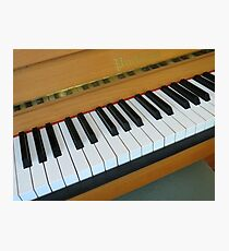 Piano Notes Photographic Print