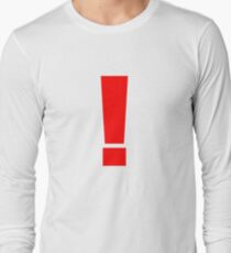 Red Exclamation Long Sleeve T-Shirt