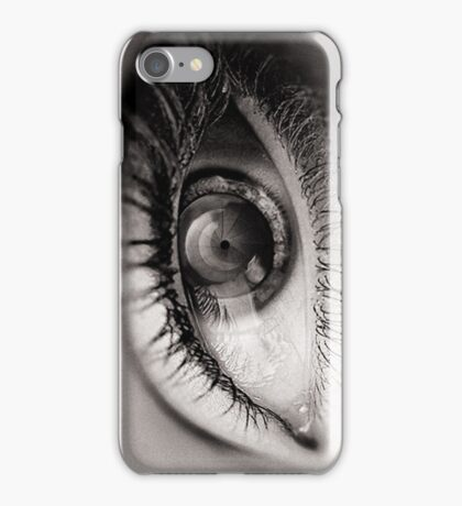 the eye as a lens iPhone Case/Skin