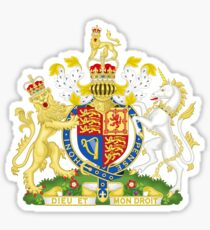 Royal Coat of Arms for the United Kingdom Sticker