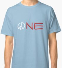 ONE peace sign Classic T-Shirt