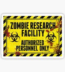 Zombie Research Facility - Fear! Sticker