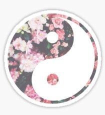 Hipster Yin Yang Sticker