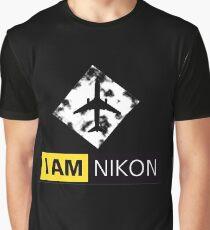 I AM NIKON Airplane Parody Logo Graphic T-Shirt