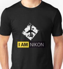 I AM NIKON Airplane Parody Logo T-Shirt