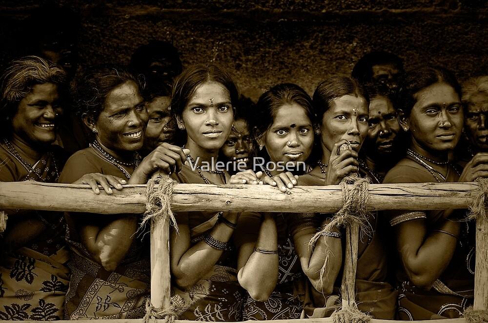 Hindu Pilgrims on New Year's Day by Valerie Rosen