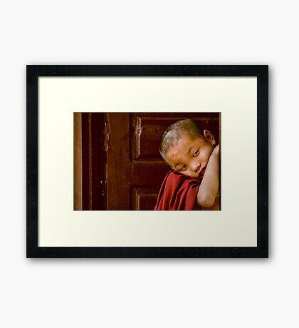 LIttle Monk Framed Print