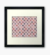 Watercolor Mermaid Scales - Sunset Framed Print