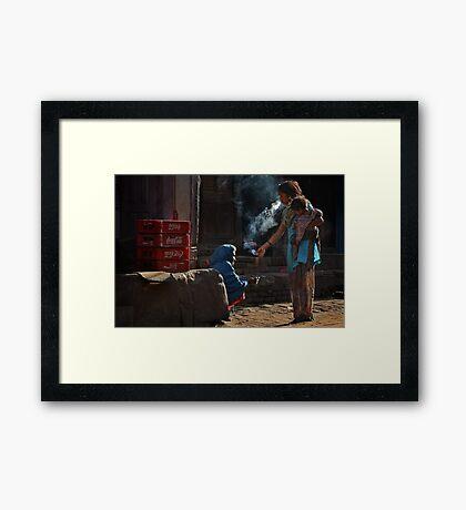 Shared Smoke Framed Print