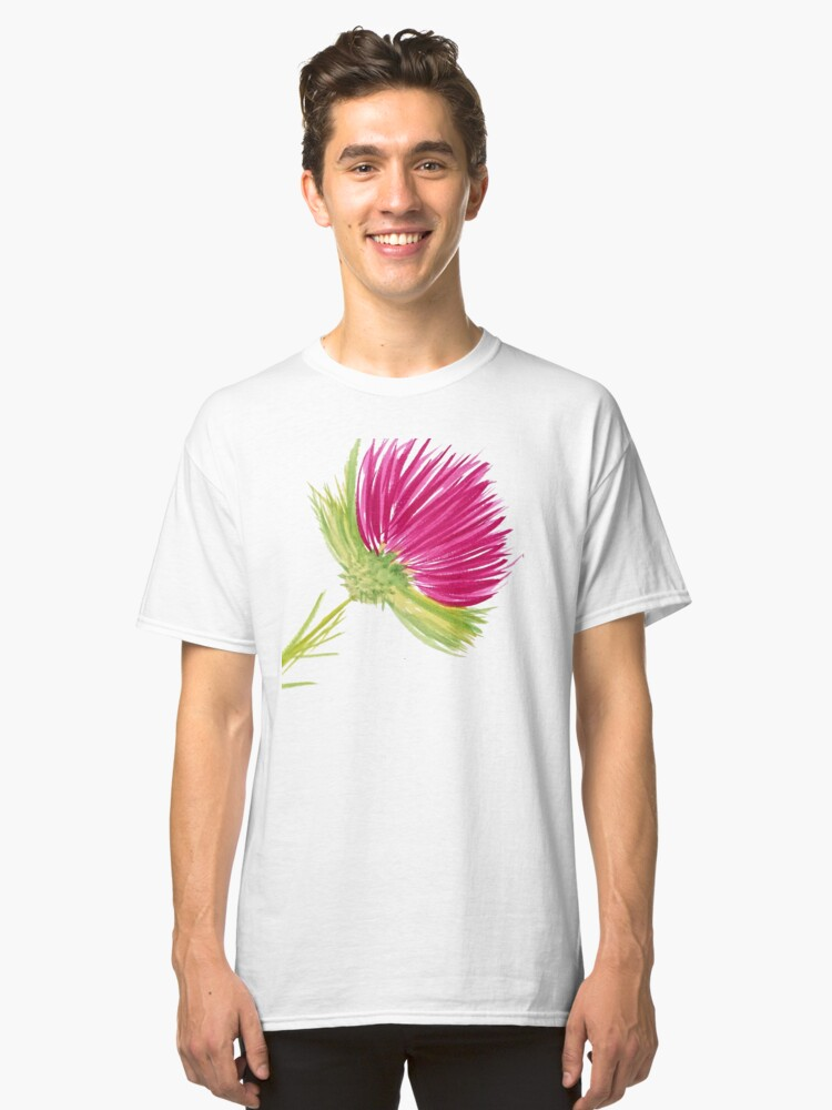 Alternate view of Brilliant Thistle Classic T-Shirt