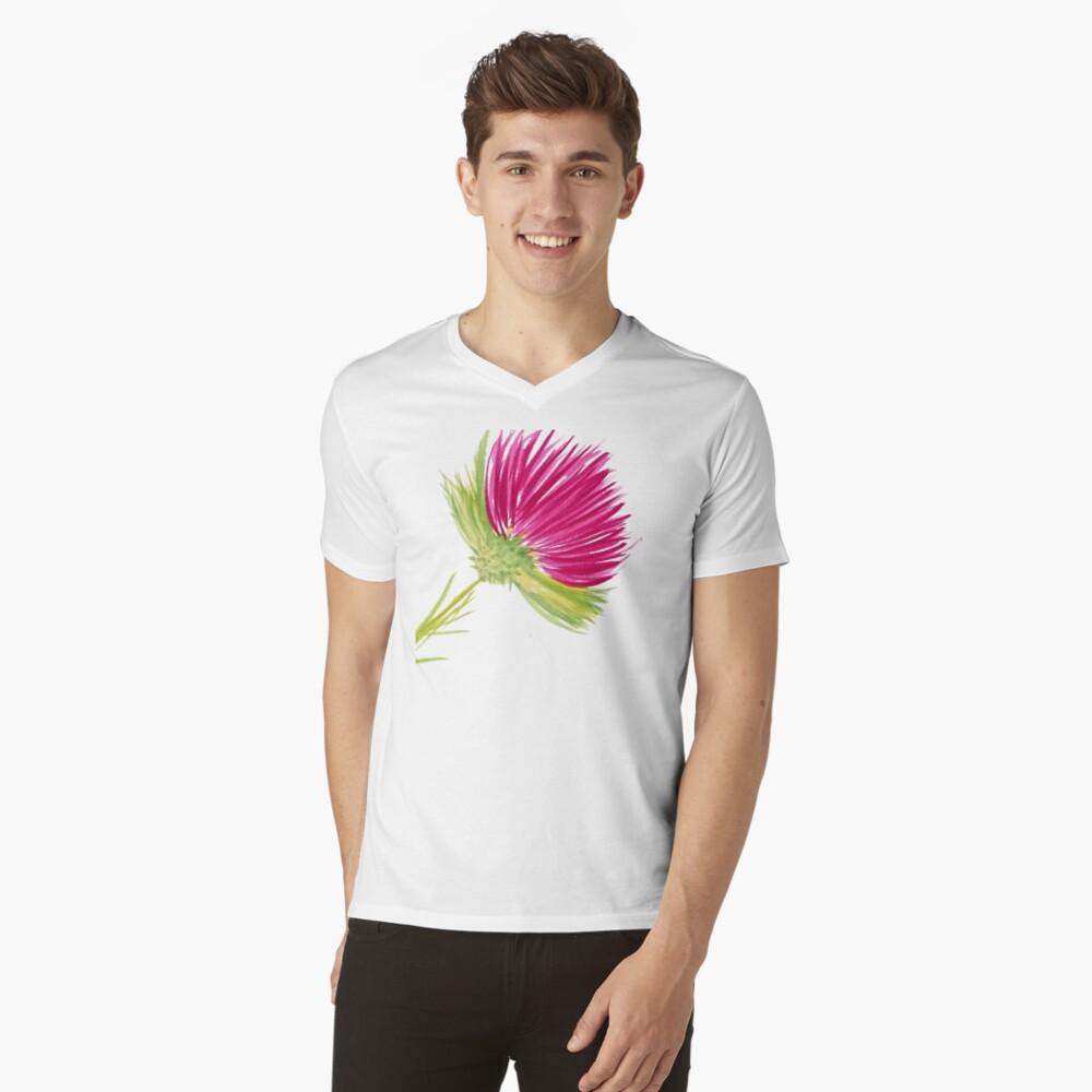 Brilliant Thistle V-Neck T-Shirt