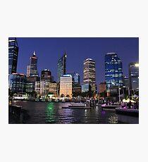 Perth City Foreshore, Elizabeth Quay Photographic Print