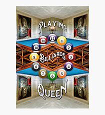 Playing Billiards with the Queen Versailles Palace Paris Photographic Print