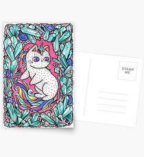 Unicorn  kitty Postcards