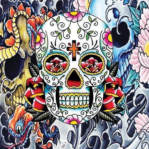 Sugar Skull Tattoo by Reira  Henderson