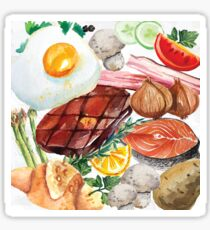 Painted Food Sticker