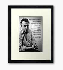 Christopher Hitchens - Quote from Letters to a Young Contrarian Framed Print