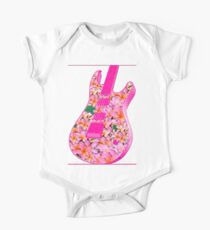 Guitar of Pink Flowers Kids Clothes