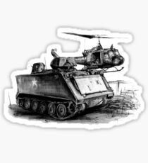 M113 and UH1 Sticker