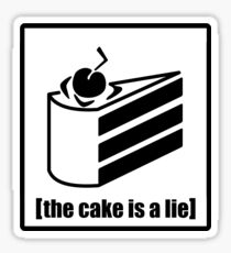 The Cake is a Lie - Portal Sticker