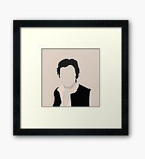 Silhouette Han Solo Framed Print