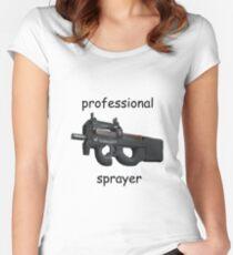 CS;GO- Professional P90 Sprayer Women's Fitted Scoop T-Shirt