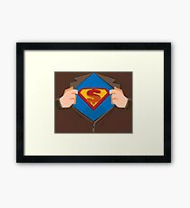 Superhero design  Framed Print