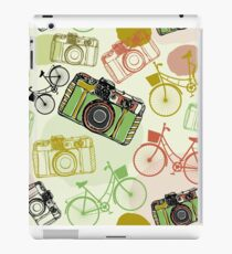 Vintage camera and bicycles iPad Case/Skin