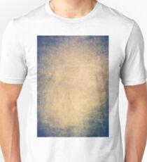 Blue and orange romantic grungy background texture with scratches T-Shirt