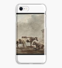 Sawrey Gilpin  Title A Horse and Two Cows near a Farm Building iPhone Case/Skin