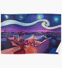 Starry Night in Marrakech Van Gogh Inspirations  Poster